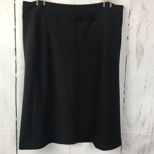 Ann Taylor Wool Blend Black Skirt Wear To Work